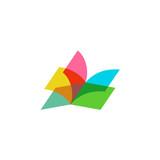 Fototapety Open book logo