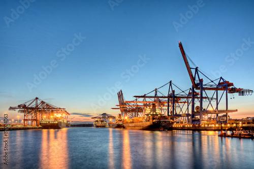 In de dag Rotterdam Containerhafen