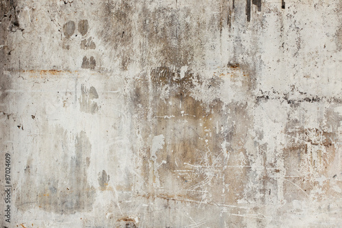 Old ruined and staind grungy wall texture © pixel