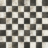 Fototapety checkered tiles seamless with black and white marble effect