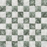 Fototapety checkered tiles seamless with green and white marble effect