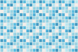 Fototapety small square tiles of blue and white color