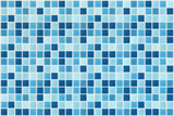 Fototapety small square tiles of blue color