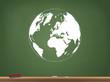 Globe Chalkboard Vector Illustration