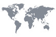 Grey World Map Vector Illustration