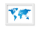 World Map Frame Illustration