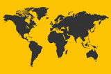 Yellow World Map Illustration