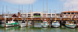 Panoramic view of Fisherman Wharf San Francisco