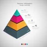 Fototapety abstract Pyramid type infographic elements. vector