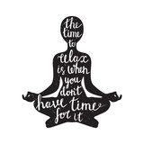 Meditation silhouette with quote - 87067608