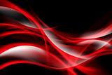 Czerwone fale na ciemnym tle