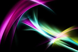 Colorful Art Light Fractal Waves Abstract Background