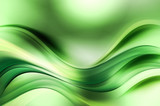 Green Fractal Waves Art Abstract Background
