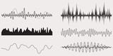 Fototapety Audio Music Sound Wave,Vector Set