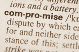 Dictionary definition of word compromise poster