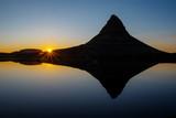 Sunset at Mount Kirkjufell on the Snaefellsnes peninsula, Iceland poster