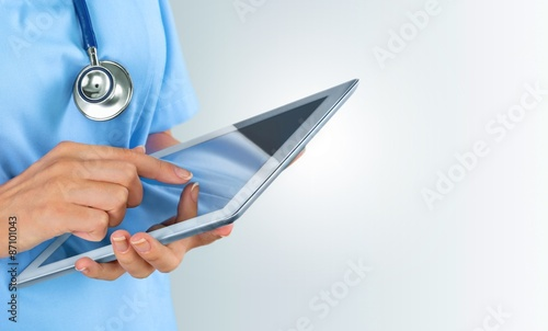Doctor, ipad, health.