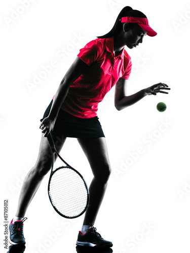 Plakát woman tennis player sadness silhouette