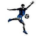 italian soccer player man silhouette
