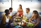 Beach Cheers Celebration Friendship Summer Fun Dinner Concept - Fine Art prints