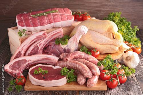 fototapeta na ścianę surowe mięso