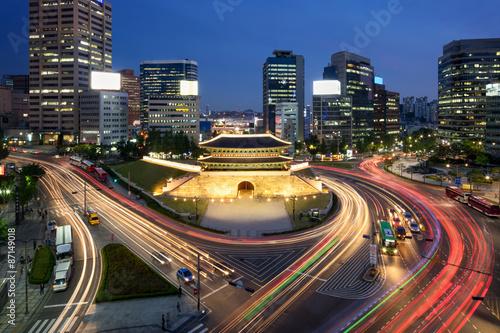 Sungnyemun Namdaemun Gate in Seoul Korea Poster