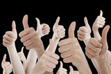 Many people holding their thumbs up - 87160421
