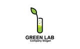Green Lab Logo template