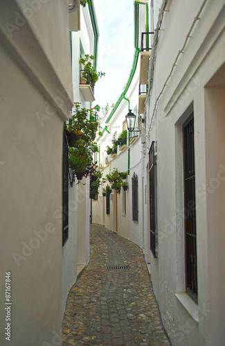 Obraz na Szkle Calle en el Barrio de la Villa, Priego de Córdoba, Andalucía, España