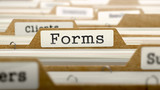 Forms Concept with Word on Folder. - 87170497