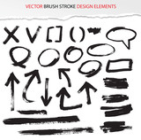 Fototapety brush stroke design elements