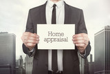 Home appraisal on paper  poster