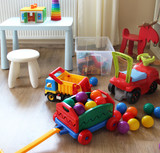Fototapety Children room interior with toys