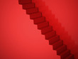 Red stairs concept