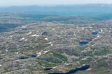 panoramatický pohled z hory gaustatoppen na slunné letní den t