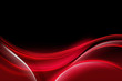 Red Abstract Waves Art Composition Black Background