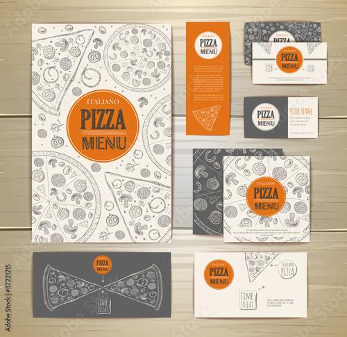 Pizza corporate idedtity, document template design