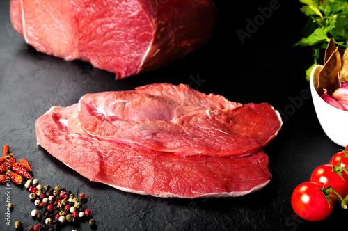 Carne fresca y cruda filetes de ternera para cocinar for Cocinar filetes de ternera