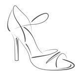 Sketched woman s shoe.
