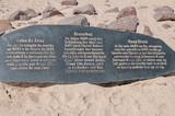 Memorial stone for Diogo Cao at Cape Cross poster
