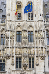 Town Hall (Hotel de Ville). Grand Place (Grote Markt), Brussels.