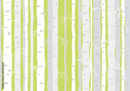 Seamless tree wallpaper, trees vector pattern