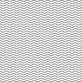 Black seamless wavy line pattern - 87268215