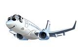 Fototapety Vector Cartoon Airliner