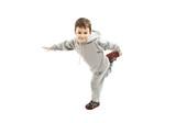 Fototapety Little cool hip-hop boy in dance