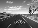 Route 66 Mojave Desert Black and White