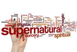 Supernatural word cloud poster