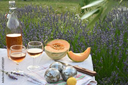 Spoed canvasdoek 2cm dik Lavendel apéritif provençal
