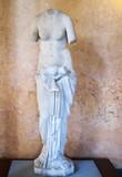 Statua di musa con velo poster