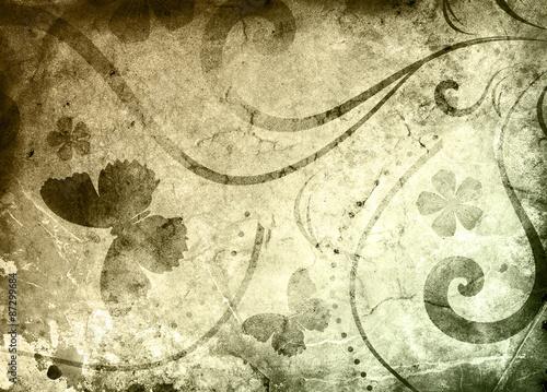Old paper with floral pattern © Kseniia Veledynska